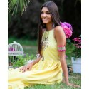 Chill Banana Long Dress Tartaruga
