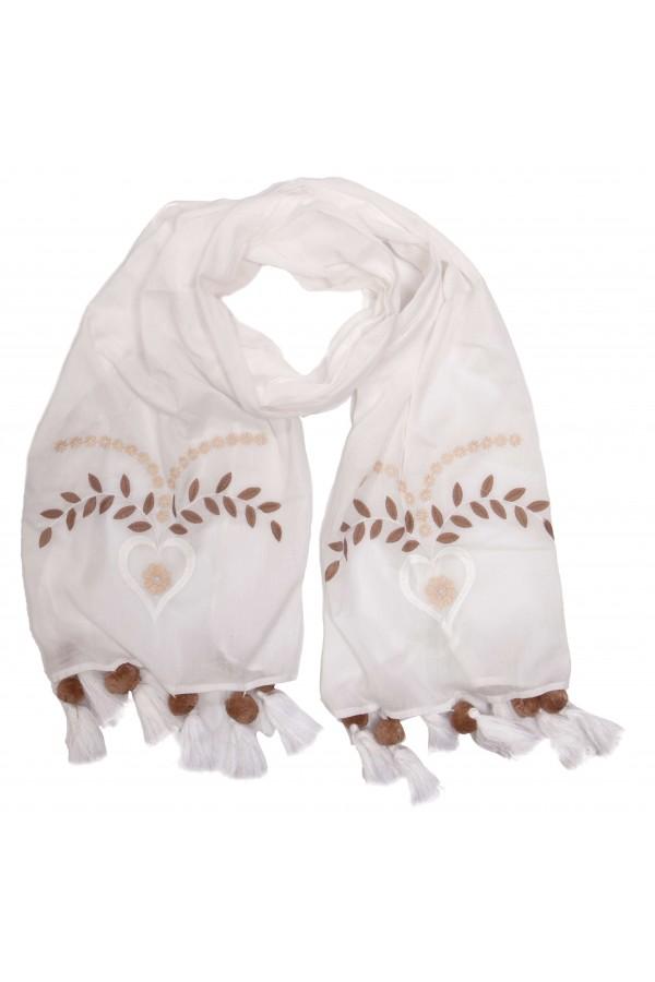 White Love Foulard