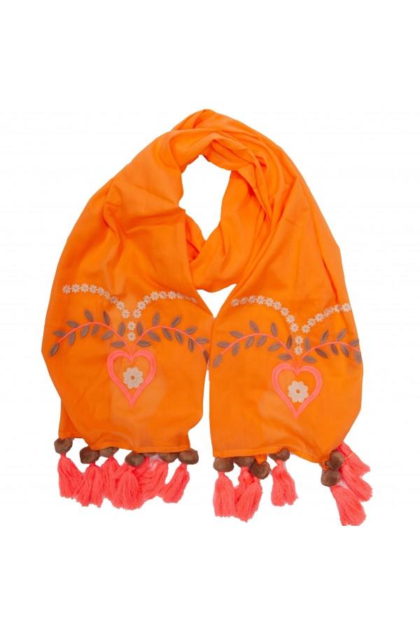 Orange Love Foulard