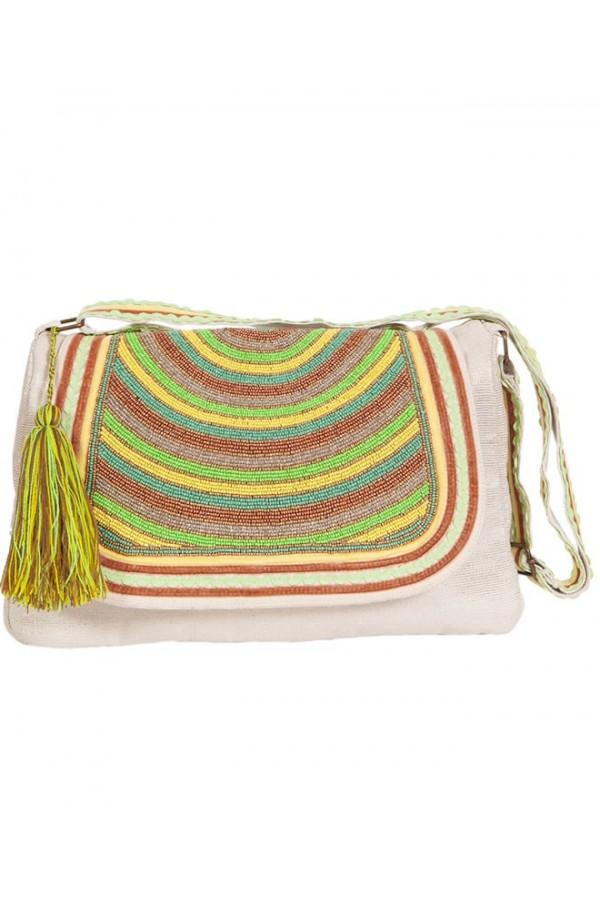 Lime Lurex Bag