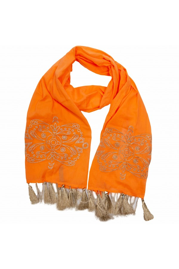 Orange Gold Foulard