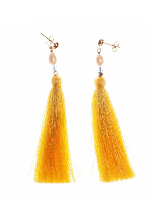 Borlas Amarillo Girasol Earrings