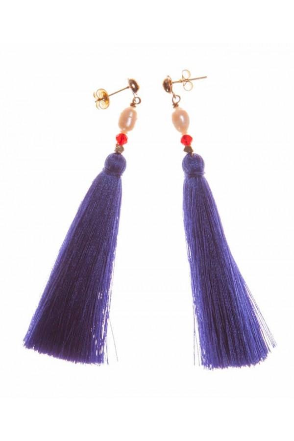 Borlas Azul Rey Earrings
