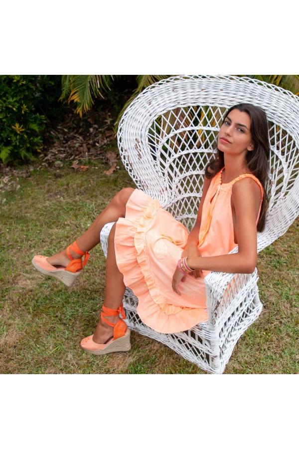 Vestido Edila Naranja