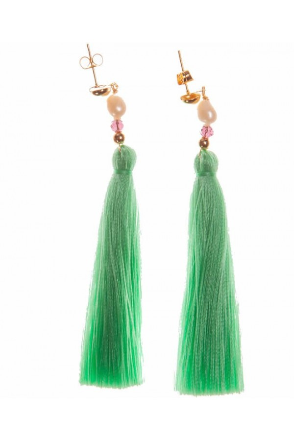 Borlas Verde Menta Earrings