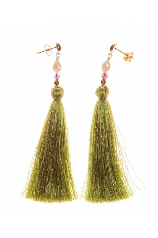 Borlas Green Campo Earrings