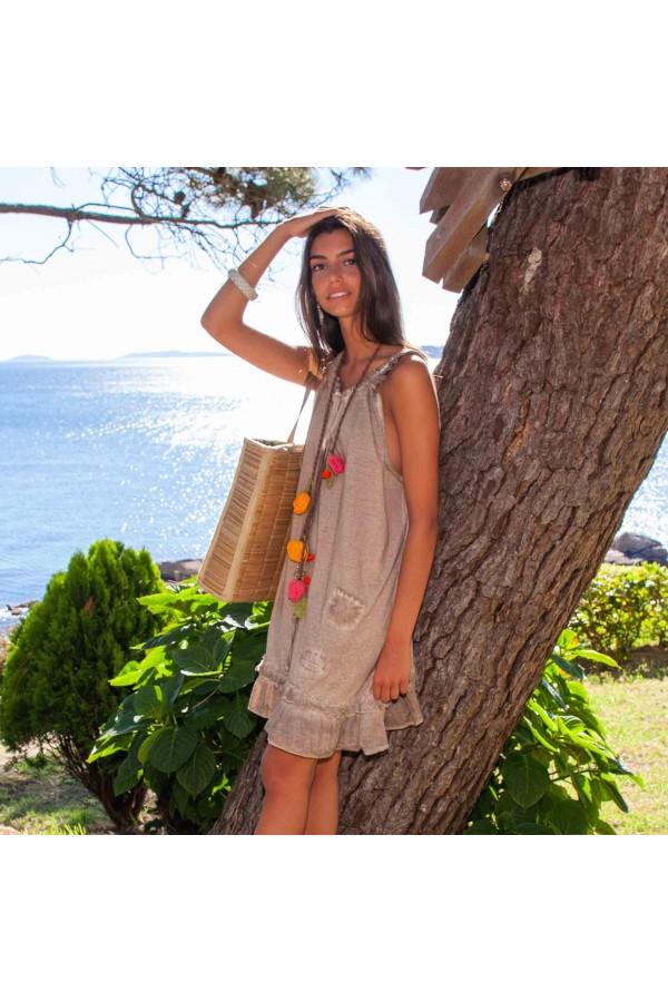 Vestito Edila Marrone