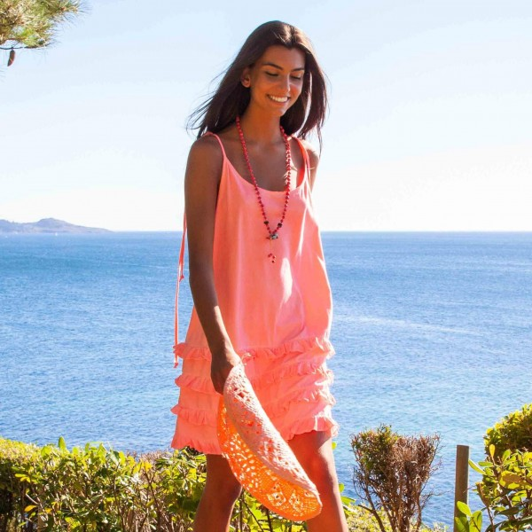 California Fluor Pink Dress