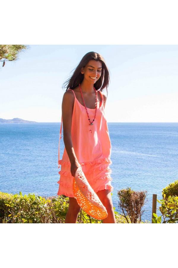 Fluor Pink California Dress