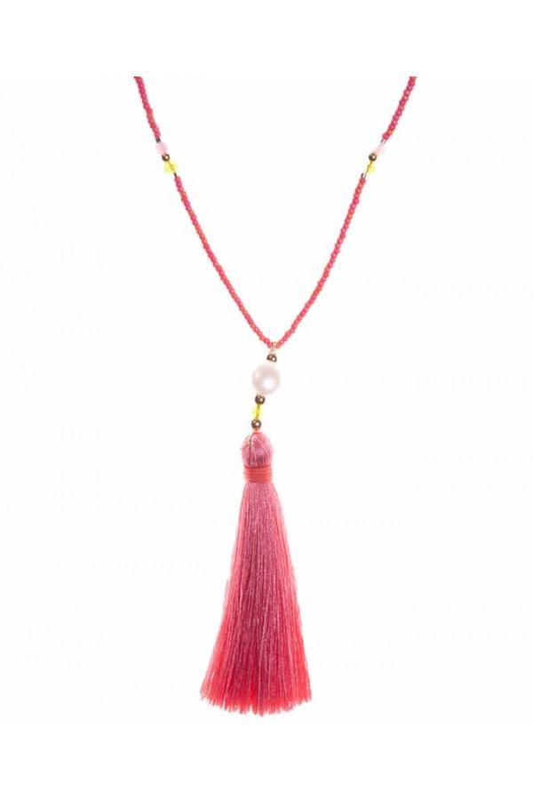 Borlon de Seda Coral Necklace