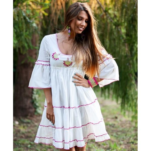 Vestido de Verano Boho Chic dance blanco
