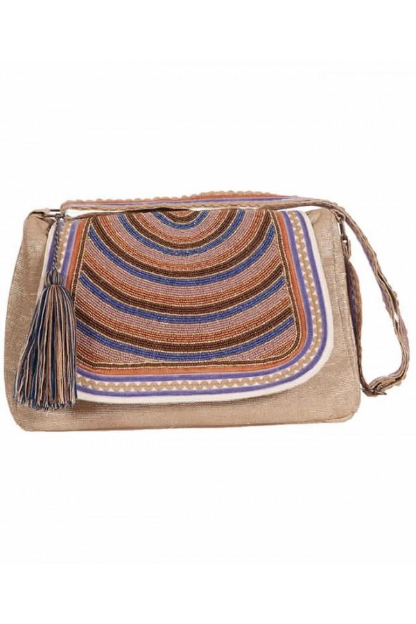 Handbag Lurex Klein
