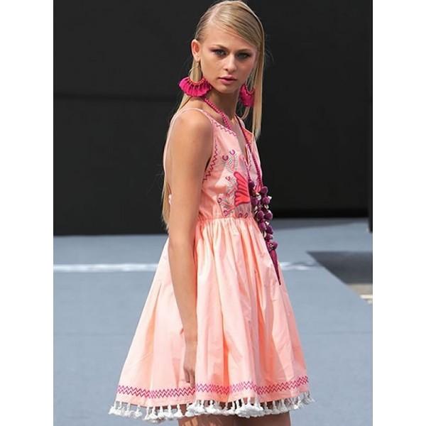 Vestido Angie Mandarina desfile Tartaruga