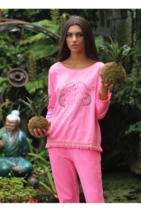 Fluor Pink Duck Sweatshirt