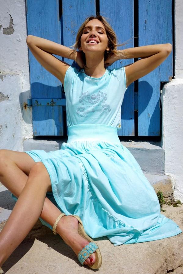 Turquoise Jalisco T-shirt