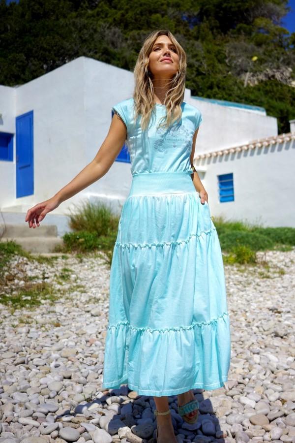 Turquoise Chicago Skirt