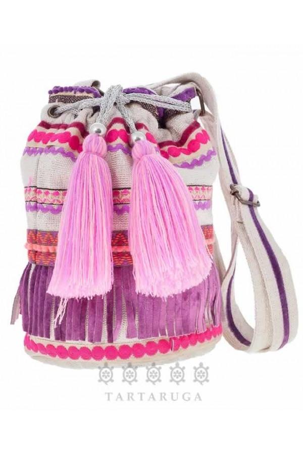 Silver Lurex Bucket Bag