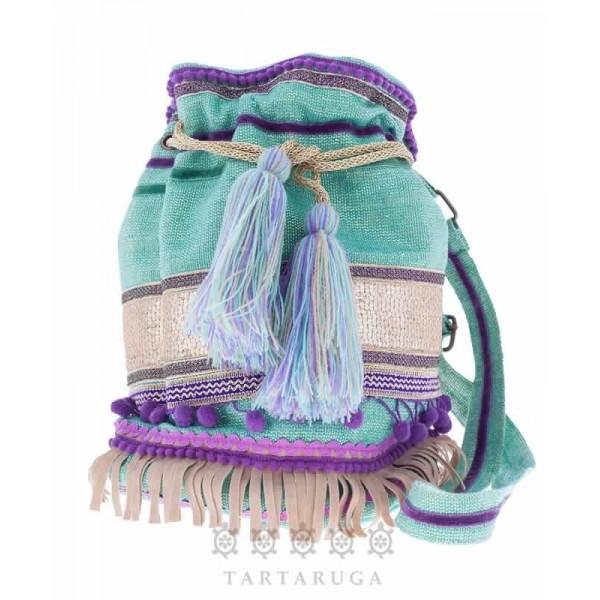 Lurex Green Bucket Bag