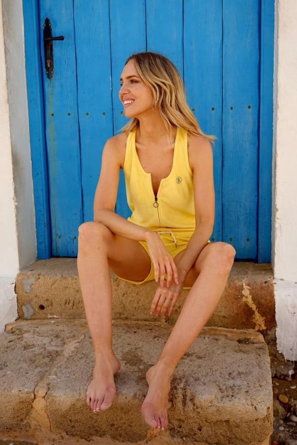 Yellow Surf Jumpsuit