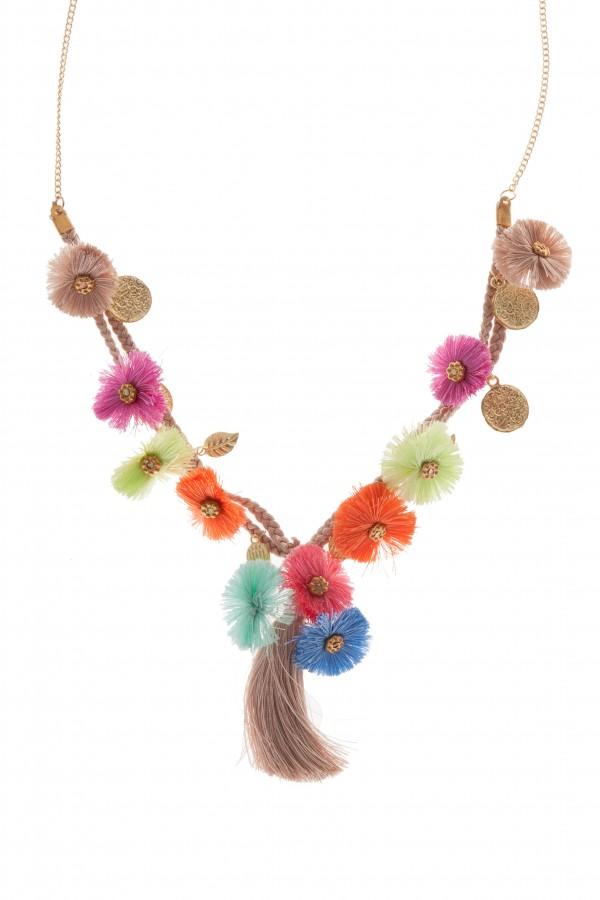 Collar Mini Borlas Multicolor